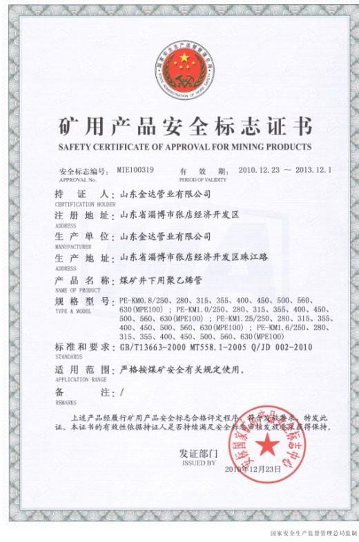 PEguan煤矿an全标zhizheng书5