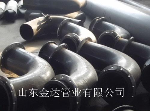 大口径chao高分子聚乙烯耐磨弯头